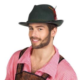 Tiroler hoed Walter groen vilt