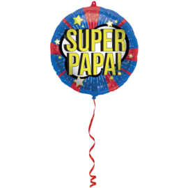Folieballon 'Super Papa!' - 45 cm
