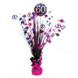 Roze Feest 60 Jaar Tafeldecoratie - 46cm