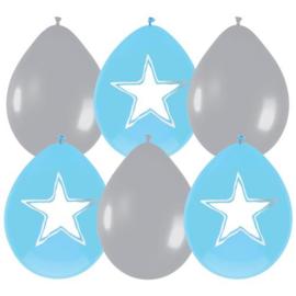Ballonnen Baby Jongen beschrijfbaar - 6 stuks
