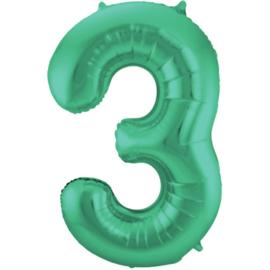 Cijfer 3 Groen Mat 86 cm