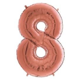 Cijfer 8 Rosé Goud - 66 cm