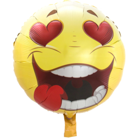 Folieballon Verliefde Emoticon - 43 cm
