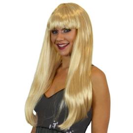 Pony pruik blond