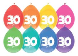 """Ballonnen """"30"""" 8 st. 30 cm"""