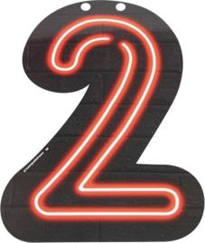 Neon Cijfer 2 - 24cm