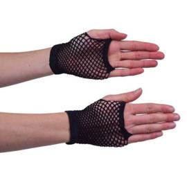 Nethandschoen kort zwart