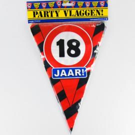 Vlaggenlijn Party 18 Jaar Verkeersbord