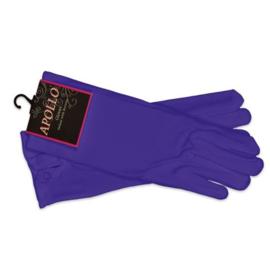 Handschoenen paars druk knoop luxe