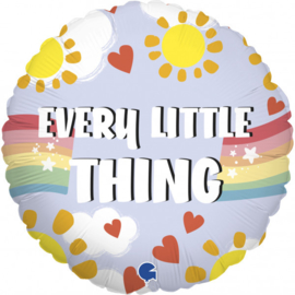Folieballon Every Little Thing Is Gonna Be Alright - 45 cm