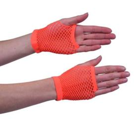 Nethandschoen kort fluor oranje