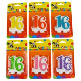 Nummerkaars '16' (7cm)