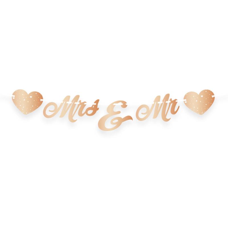 Bruiloft Rosé Goud Letterslinger Just Married