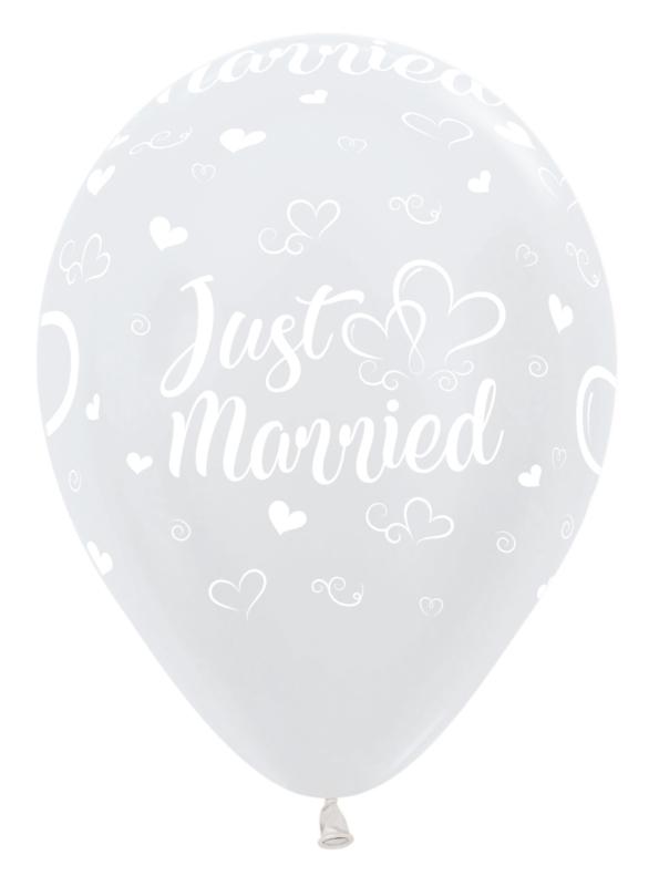 Ballon Just Married Wit Metallic (1st)