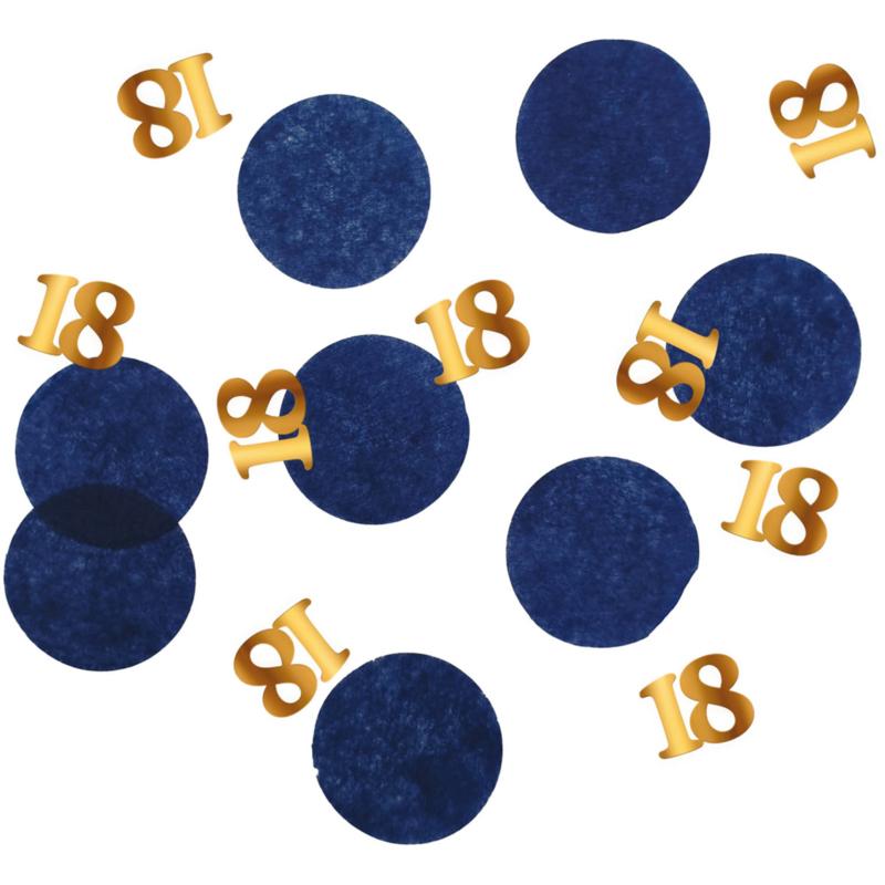 Confetti Elegant True Blue 18 Jaar - 25 gram