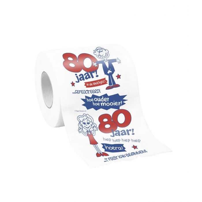 WC Papier - Toiletpapier - 80 jaar