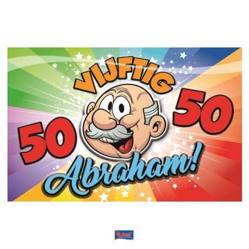 Deurbord 50 jaar Abraham Regenboog