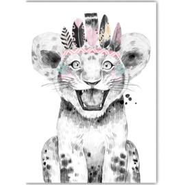 Poster Boho Leeuw