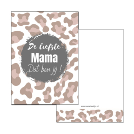Mini kaartje mama roze
