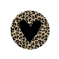 Leopard black heart ( vanaf 5 stuks )