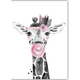Poster Boho Giraffe
