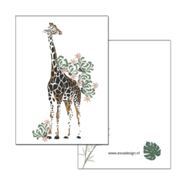 Mini kaartje Jungle Giraffe