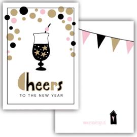 Mini kaart Cheers to the new year