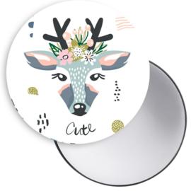 Spiegel Deer licht blauw