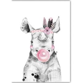 Poster Boho Nijlpaard