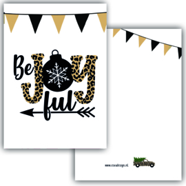 Mini kaartje Be Joyfull