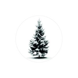 "Kado sticker "" Kerstboom """