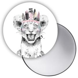 Spiegel Boho Leeuw
