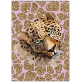 Poster Leopard roze