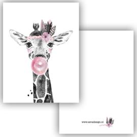 Mini kaartje Boho Giraffe