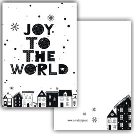 Mini kaartje Joy to the world