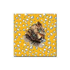 Kadosticker vierkant Leopard oker