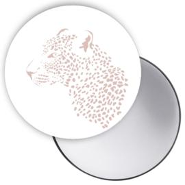 Spiegel Leopard pastel roze