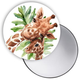 Spiegel Giraffe groen blad