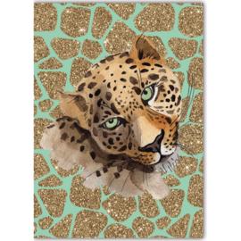 Poster Leopard groen