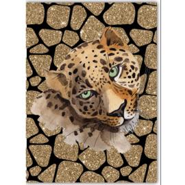 Poster Leopard zwart
