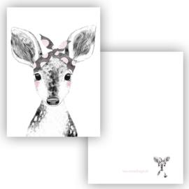 Mini kaartje Boho Deer