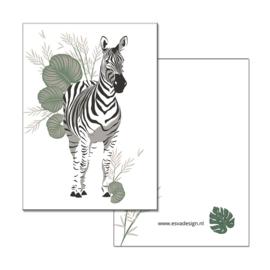 Mini kaartje Jungle Zebra