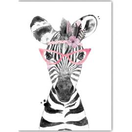 Poster Boho Zebra