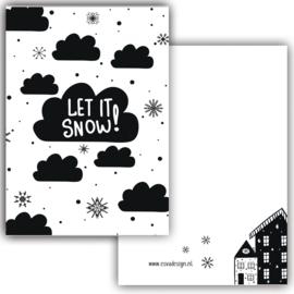 Mini kaartje Let it snow