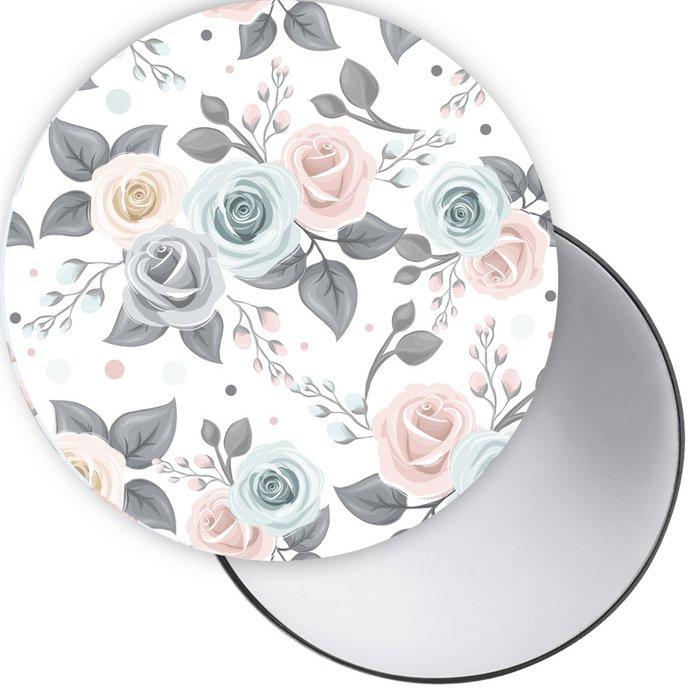 Spiegel roos wit
