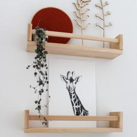 Zwart-Wit Poster Giraffe