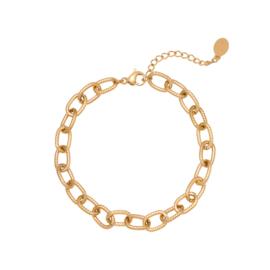 Armband | Chiseled Chain | Goudkleur