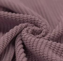 Mauve big knit trui