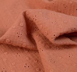 Rokje terracotta broderie