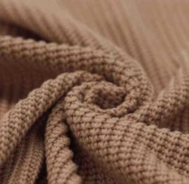 Camel big knit trui